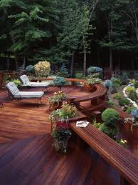 Deck Planters And Benches - ipe deck benches and planter houzz
