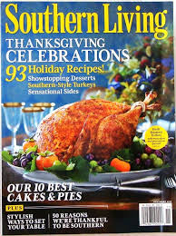 southern living thanksgiving celebrations magazine 93
