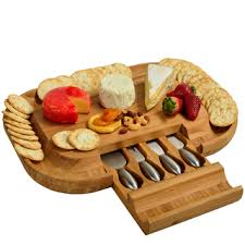 personalized cheese plate picnic at ascot original malvern bamboo cheese board set with 4