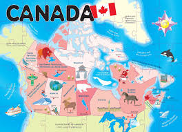 The Map Of Canada by Amazon Com Ingenio Canada Map Floor Puzzle Toys U0026 Games