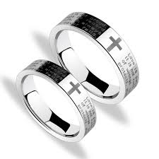 fashion cross rings images Korean fashion cross tungsten couple rings couple rings jpg