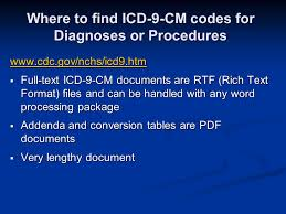 Icd 9 Conversion Table National Hospital Discharge Survey Nhds And National Survey Of