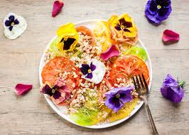Salad With Edible Flowers - 23 edible flower recipes that are almost too pretty to eat