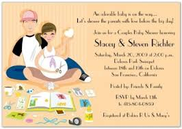 couples baby shower invitations ba shower invitations theruntime couples baby shower