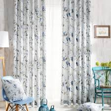 Blue Floral Curtains Blue Floral Patterned Curtain Country Style