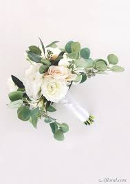 Affordable Flowers - silk flower wedding bouquet make your own bridal bouquet with