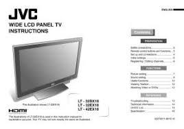 jvc hd 56g786 l lt 32bx18 jvc lcd flat screen panel tv television manual