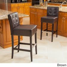 best of the bunch tate tufted leather counter u0026 back bar stools