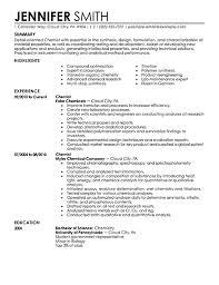 free resume exles best chemist resume exle livecareer