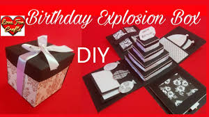 birthday explosion box diy how to make explosion box youtube