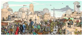 highly detailed tatooine mural i like to waste my time see the full version