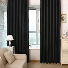 Thick Black Curtains Black Blackout Curtains Curtain Home Living Room Shading Curtain