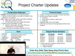 Six Sigma Project Charter Template Excel Measure Phase Lean Six Sigma Tollgate Template