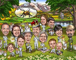 family gifts custom family caricatures from a photo