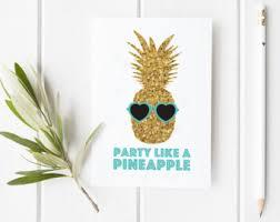 Ananas Pineapple Meme - pineapple card etsy