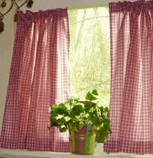 White Cafe Curtains And White Cafe Curtains Gingham Check