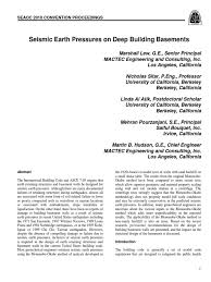 seismic earth pressures on deep building basements geotechnical