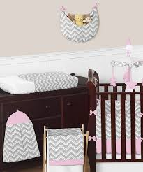 Pink Chevron Crib Bedding Pink And Gray Chevron Zig Zag Baby Bedding 9pc Crib Set By Sweet