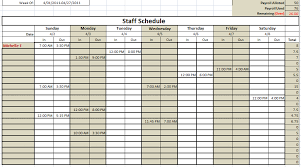 Monthly Employee Schedule Template Excel 6 Free Staff Schedule Template Ms Excel Schedule Templates