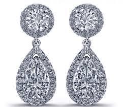 teardrop diamond earrings diamond earrings tear drop diamonds dangling earrings in 14k
