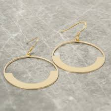 circle earrings gold half moon circle earrings loel co