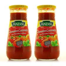 panzani sauce tomates cuisinés aux tomates fraîches lot de 2x600g