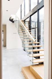 Glass Stair Banisters Stair Modern Design Architecture Steel Stringers