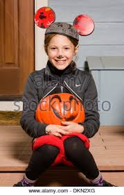 Mickey Mouse Costume Halloween Person Mickey Mouse Costume Stock Photo Royalty Free Image
