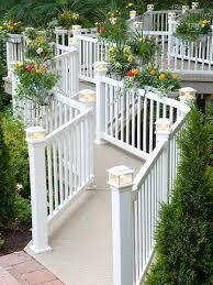 deck railing planters deck railing mountain laurel handrails