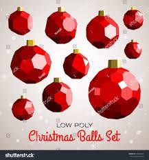 merry christmas modern low poly merry christmas balls set stock vector 519856234