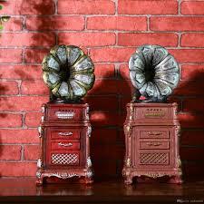 Vintage Antique Home Decor 2017 Shabby Chic Antique Phonograph Piggy Bank Vintage Home Decor
