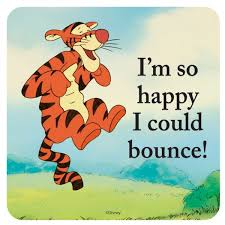 tigger i m so happy i could bounce cork backed drinks mat coaster hb