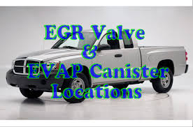 Dodge Dakota Trucks 2014 - dodge dakota egr valve location u0026 evap canister location youtube