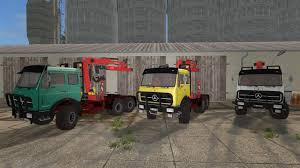 mercedes pickup truck 6x6 mercedes benz ng 6x6 forrestry crane v2 0 ls 2017 farming