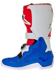 alpinestar motocross boots alpinestars blue white red fluorescent tech seven s kids mx boot