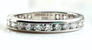 3mm diamond co 1 0ct 3mm diamond platinum eternity wedding band