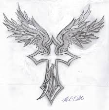 21apyp cross tattoos with wings on arm