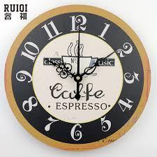 horloge murale cuisine mode café horloges murales absolument silencieux horloge murale