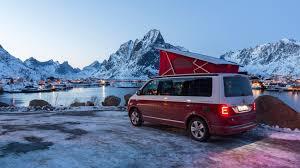 volkswagen california t6 vw california 2017 review camping at the arctic circle by car