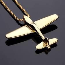 aliexpress buy nyuk new fashion american style gold nyuk necklaces pendants stainless steel plane aircraft pendant