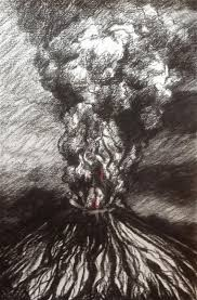 works on paper active volcano annemarie szeleczky
