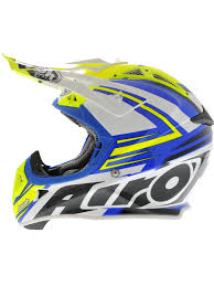 airoh motocross helmets airoh blue white yellow 2015 aviator 2 1 carbon kev lar van