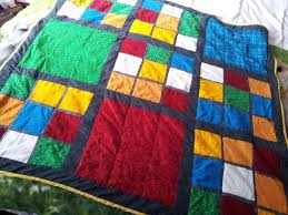finished rubiks cube inspired quilt my quilts pinterest