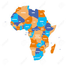 World Map Of Africa by Multicolored Political Map Of Africa Continent With National