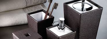 Designer Bathroom Accessories Stylish Houseology - Bathroom design accessories