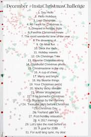 Challenge Instagram December Instagram Challenge 2017 A Thought And A Half