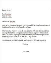 letter of resignation example employee resignation letter pdf