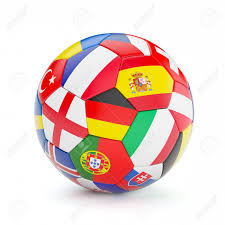 Europe Flags Soccer Football Ball With Europe Countries European Flags Isolated