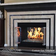 gas fireplace glass binhminh decoration