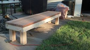 Bench Made From 2x4 Wooden Outdoor Bench Diy Bench Decoration